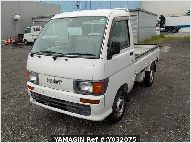 It is a picture of the white daihatsu hijet truck in 1998,Sub Photo 1 Stock No.Y032075