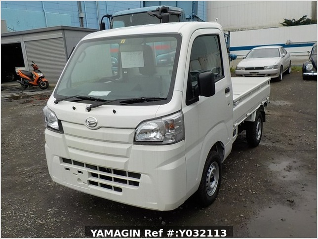 It is a picture of the white daihatsu hijet truck in 2019,Sub Photo 1 Stock No.Y032113