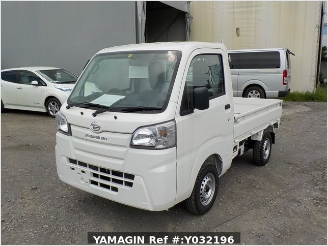It is a picture of the white daihatsu hijet truck in 2019,Sub Photo 1 Stock No.Y032196