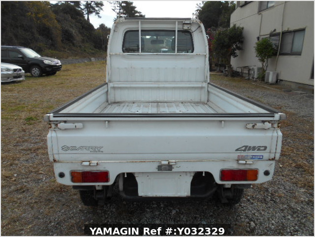 It is a picture of the white suzuki carry truck in 1996,Sub Photo 4 Stock No.Y032329