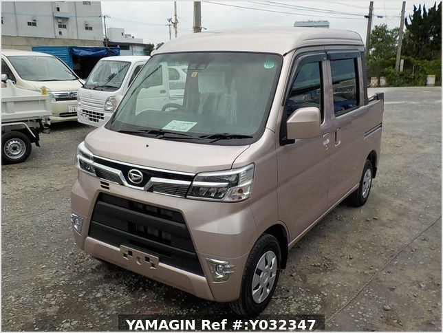 It is a picture of the light rose  daihatsu hijet deck van in 2020,Sub Photo 1 Stock No.Y032347