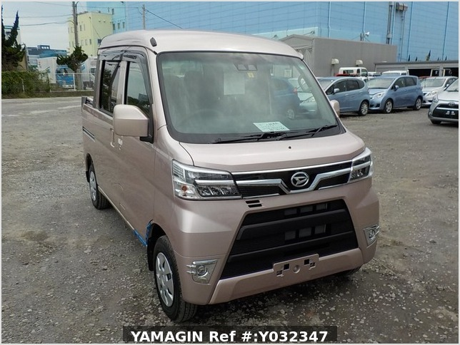 It is a picture of the light rose  daihatsu hijet deck van in 2020,Sub Photo 0 Stock No.Y032347