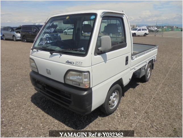 It is a picture of the white honda acty truck in 1996,Sub Photo 0 Stock No.Y032362