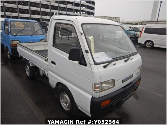 It is a picture of the white suzuki carry truck in 1994,Sub Photo 0 Stock No.Y032364