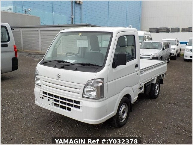 It is a picture of the white suzuki carry truck in 2019,Sub Photo 1 Stock No.Y032378