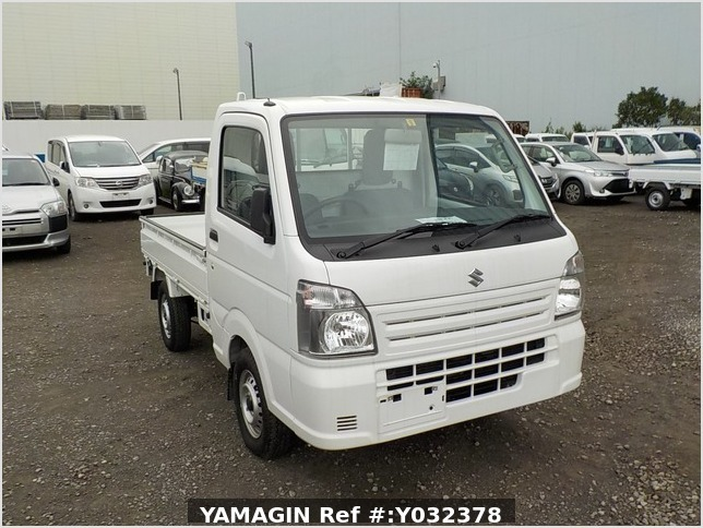 It is a picture of the white suzuki carry truck in 2019,Sub Photo 0 Stock No.Y032378