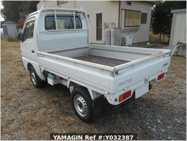 It is a picture of the white suzuki carry truck in 1996,Sub Photo 3 Stock No.Y038110