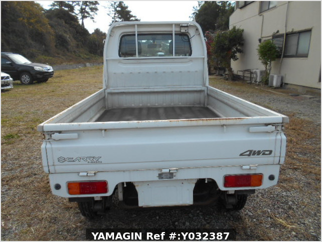 It is a picture of the white suzuki carry truck in 1996,Sub Photo 4 Stock No.Y038110