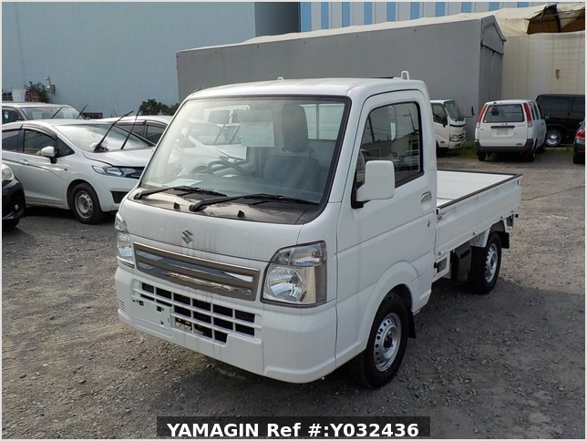 It is a picture of the white suzuki carry truck in 2020,Sub Photo 1 Stock No.Y032436
