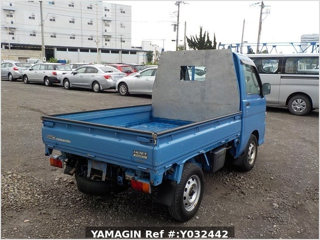 It is a picture of the blue daihatsu hijet dump in 2004,Sub Photo 3 Stock No.Y032442