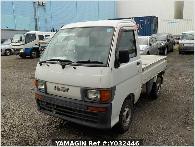 It is a picture of the white daihatsu hijet truck in 1998,Sub Photo 1 Stock No.Y032446