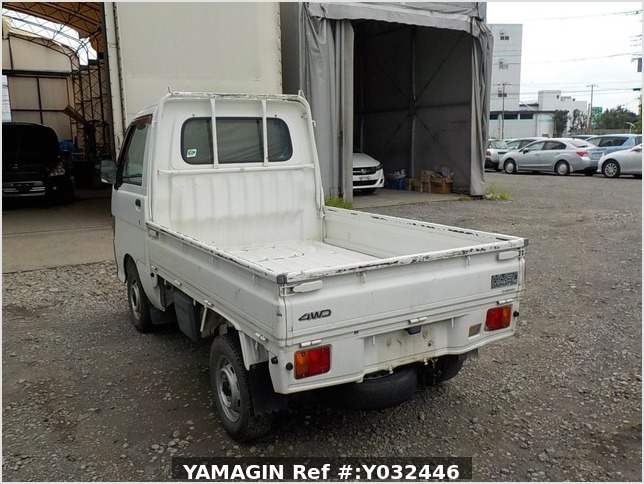 It is a picture of the white daihatsu hijet truck in 1998,Sub Photo 3 Stock No.Y032446