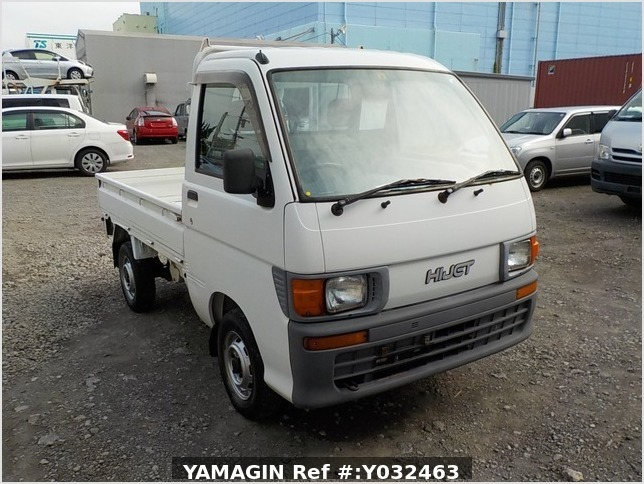 It is a picture of the white daihatsu hijet truck in 1998,Sub Photo 0 Stock No.Y032463