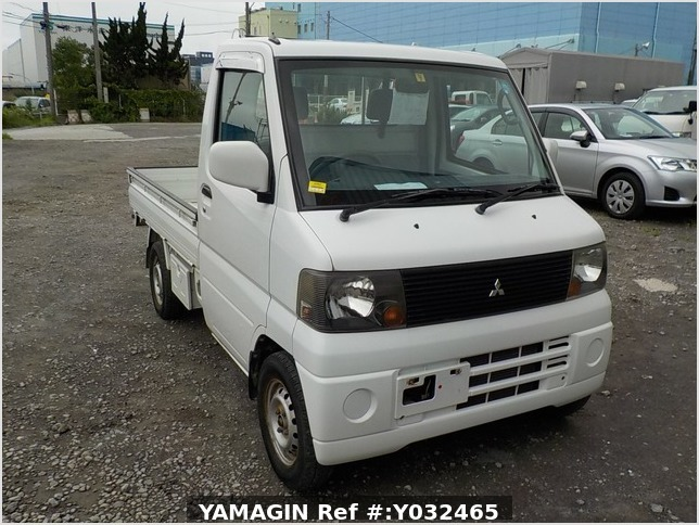 It is a picture of the white mitsubishi minicab truck in 2004,Sub Photo 0 Stock No.Y032465