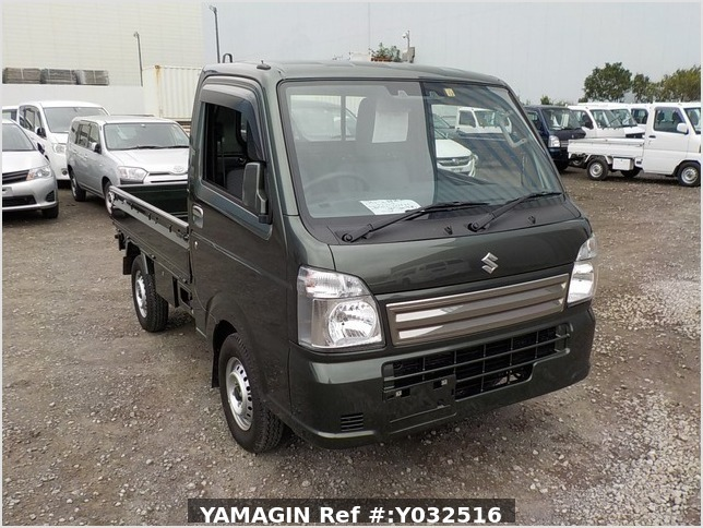 It is a picture of the green suzuki carry truck in 2019,Sub Photo 0 Stock No.Y032516