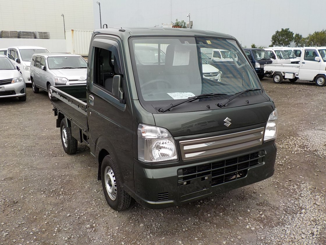 It is a picture of the green suzuki carry truck in 2019,First Photo Stock No.Y032516