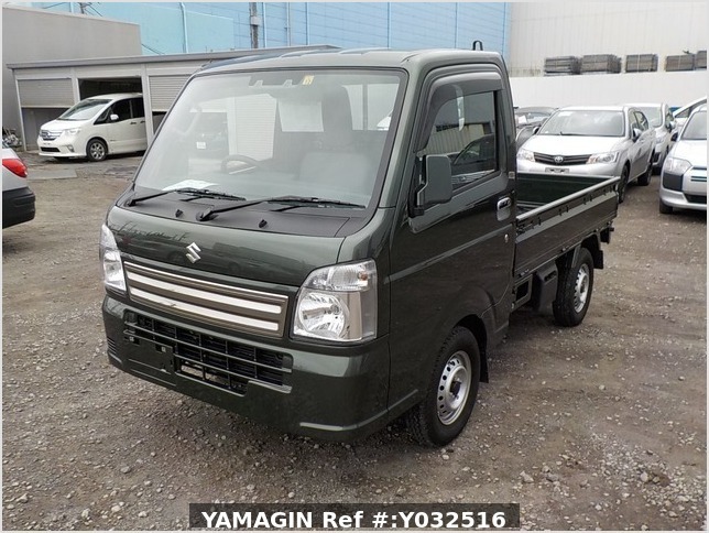 It is a picture of the green suzuki carry truck in 2019,Sub Photo 1 Stock No.Y032516