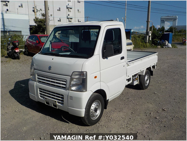 It is a picture of the white suzuki carry  truck in 2010,Sub Photo 1 Stock No.Y032540