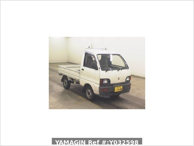 It is a picture of the white mitsubishi minicab truck in 1995,Sub Photo 13 Stock No.Y032598