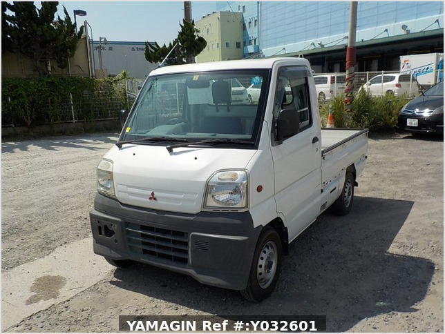 It is a picture of the white mitsubishi minicab truck in 1999,Sub Photo 1 Stock No.Y032601