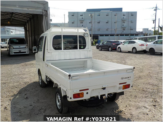 It is a picture of the white daihatsu hijet jumbo in 2019,Sub Photo 3 Stock No.Y032621