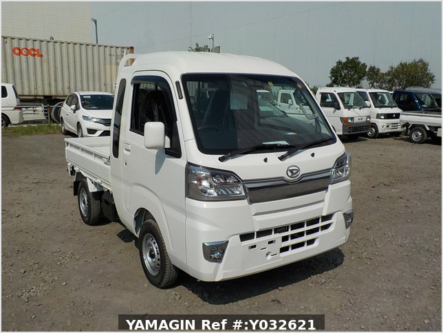 It is a picture of the white daihatsu hijet jumbo in 2019,Sub Photo 0 Stock No.Y032621