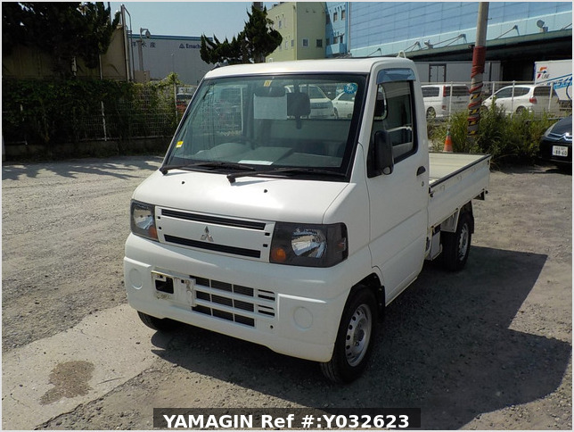 It is a picture of the white mitsubishi minicab truck in 2010,Sub Photo 1 Stock No.Y032623