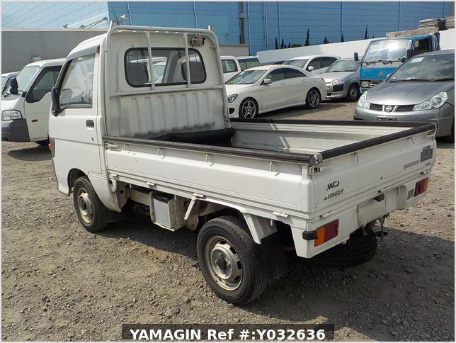 It is a picture of the white daihatsu hijet truck in 1994,Sub Photo 3 Stock No.Y032636