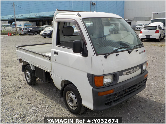 It is a picture of the white daihatsu hijet  truck in 1996,Sub Photo 0 Stock No.Y032674