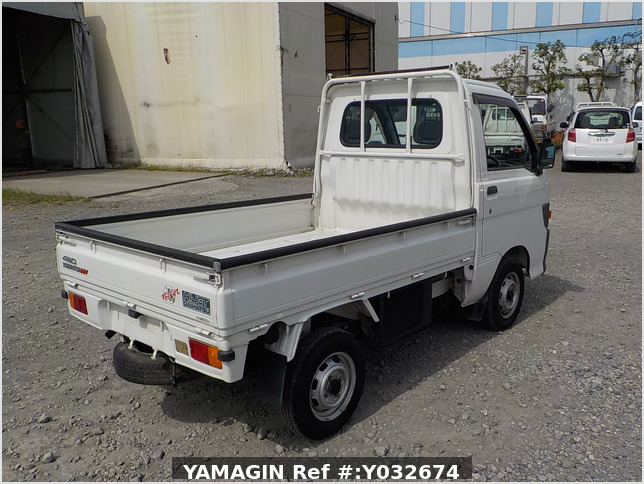 It is a picture of the white daihatsu hijet  truck in 1996,Sub Photo 2 Stock No.Y032674