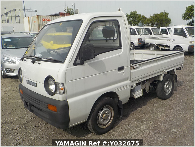 It is a picture of the white suzuki carry truck in 1992,Sub Photo 21 Stock No.Y032675