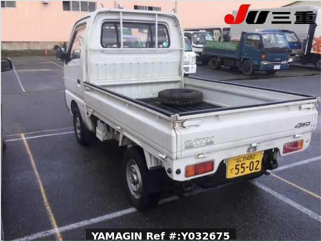It is a picture of the white suzuki carry truck in 1992,Sub Photo 30 Stock No.Y032675