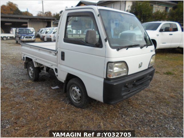 It is a picture of the white honda acty truck in 1996,Sub Photo 0 Stock No.Y032705