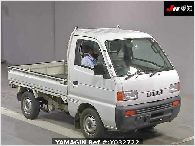It is a picture of the white suzuki carry truck in 1995,Sub Photo 0 Stock No.Y032722