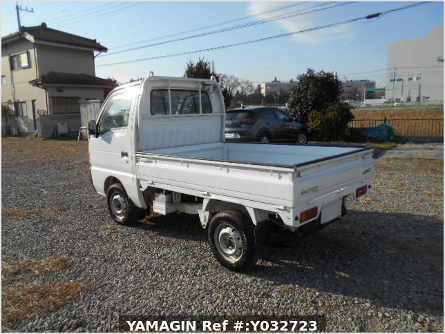 It is a picture of the white suzuki carry truck in 1996,Sub Photo 3 Stock No.Y032723