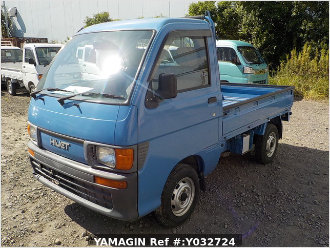 It is a picture of the blue daihatsu hijet truck in 1996,Sub Photo 1 Stock No.Y032724