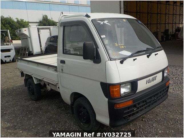 It is a picture of the white daihatsu hijet  truck in 1994,Sub Photo 1 Stock No.Y032725