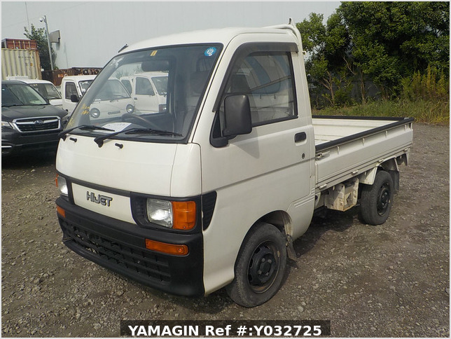 It is a picture of the white daihatsu hijet  truck in 1994,Sub Photo 0 Stock No.Y032725