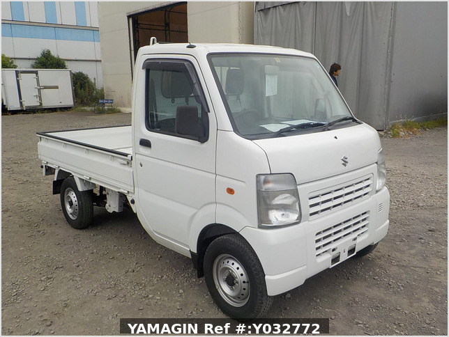 It is a picture of the white suzuki carry truck in 2010,Sub Photo 0 Stock No.Y032772