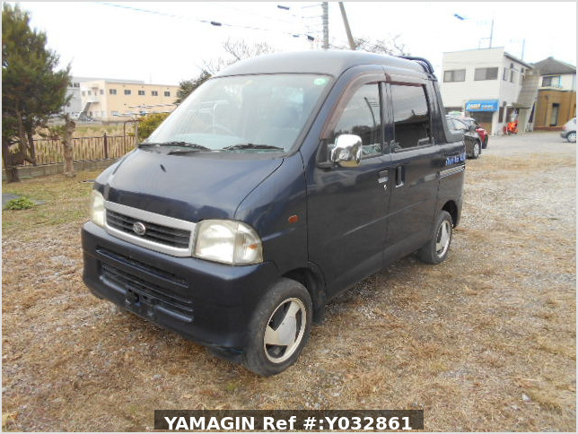 It is a picture of the blue daihatsu hijet deck van in 2001,Sub Photo 1 Stock No.Y032861
