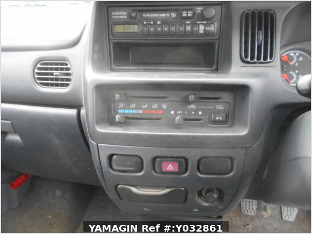 It is a picture of the blue daihatsu hijet deck van in 2001,Sub Photo 11 Stock No.Y032861