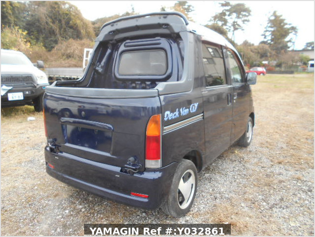 It is a picture of the blue daihatsu hijet deck van in 2001,Sub Photo 2 Stock No.Y032861