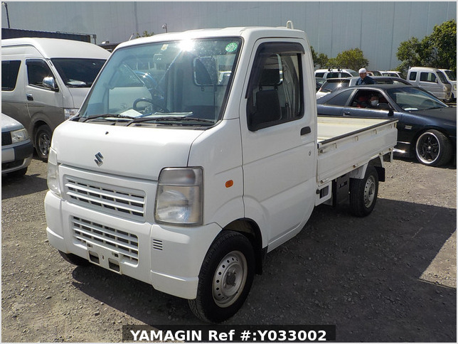 It is a picture of the white suzuki carry truck in 2010,Sub Photo 1 Stock No.Y033002