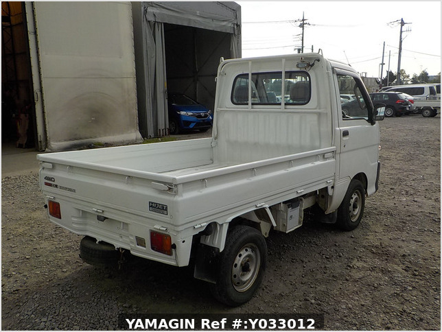 It is a picture of the white daihatsu hijet truck in 1999,Sub Photo 1 Stock No.Y033012