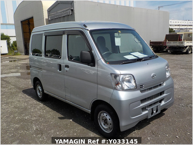 It is a picture of the silver daihatsu hijet passenger van in 2016,Sub Photo 0 Stock No.Y033145