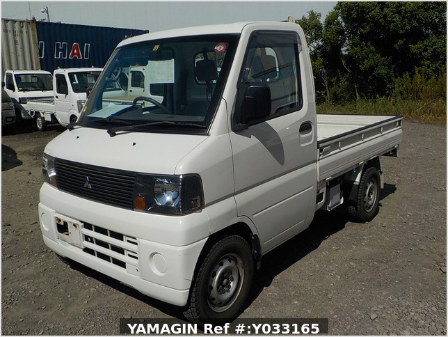 It is a picture of the white mitsubishi minicab truck in 2003,Sub Photo 1 Stock No.Y033165