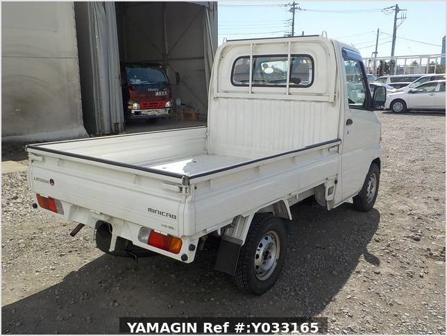 It is a picture of the white mitsubishi minicab truck in 2003,Sub Photo 2 Stock No.Y033165