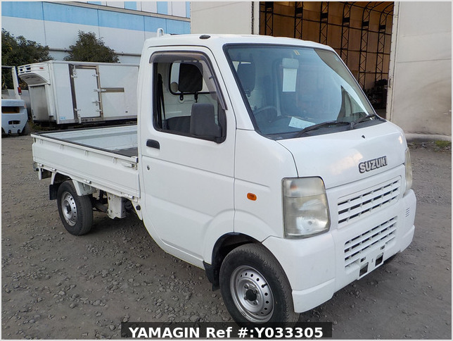 It is a picture of the white suzuki carry truck in 2008,Sub Photo 0 Stock No.Y033305
