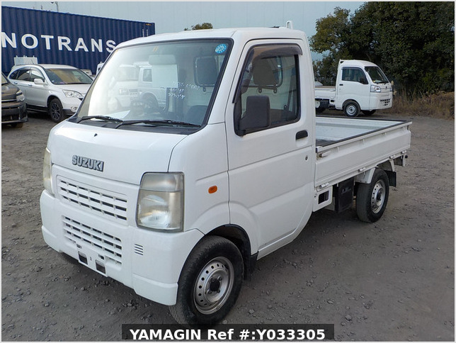 It is a picture of the white suzuki carry truck in 2008,Sub Photo 1 Stock No.Y033305