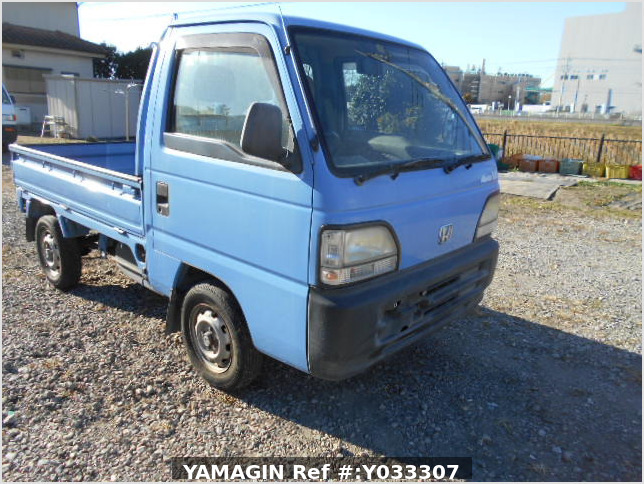 It is a picture of the blue honda acty truck in 1996,Sub Photo 0 Stock No.Y033307